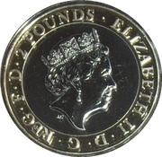 2 Pounds - Elizabeth II (5th portrait; Shakespeare, Tragedy) -  obverse