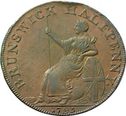 ½ Penny (Middlesex - Kilvington) – reverse