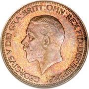 ½ Penny - George V (smaller portrait) -  obverse