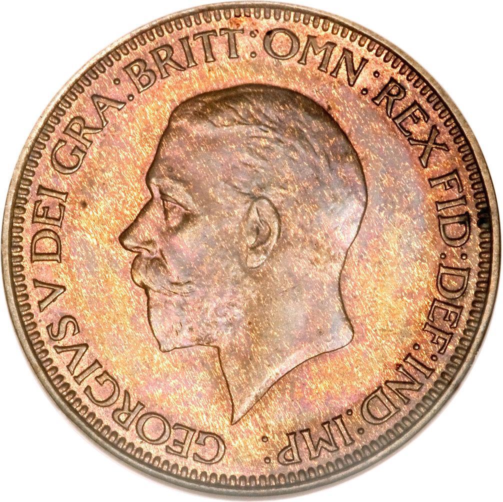 1928 U.K Half-Penny Coin