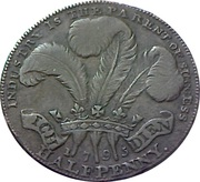 ½ Penny (Middlesex - National Series / Prince of Wales) -  reverse