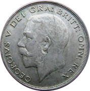 ½ Crown - George V (2nd type) -  obverse