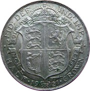 ½ Crown - George V (2nd type) -  reverse