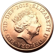 2 Pence - Elizabeth II (5th portrait; Royal Shield) -  obverse