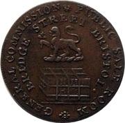 ½ Penny (Somerset - Bristol / Niblock & Hunter's) – obverse
