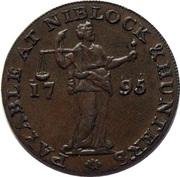 ½ Penny (Somerset - Bristol / Niblock & Hunter's) – reverse