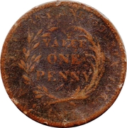 1 Penny (Worcestershire - Worcester / City & County) – reverse