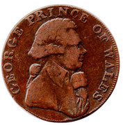 ½ Penny (Middlesex - National Series / Prince of Wales) – obverse