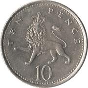 10 Pence - Elizabeth II (3rd portrait; small type) -  reverse
