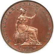 ½ Penny - William IV – reverse