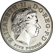 5 Pounds - Elizabeth II (Entente Cordiale; Platinum Piedfort) -  obverse
