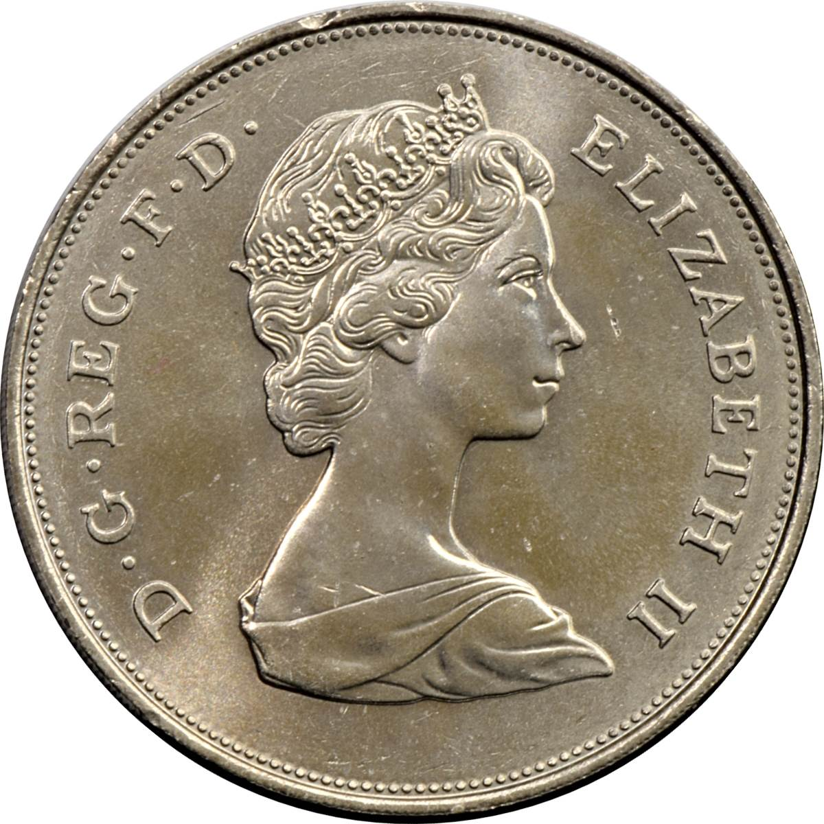 United Kingdom Queen Elizabeth II 1975 2 New Pence Gold