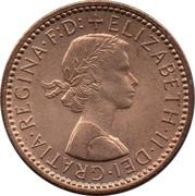 1 Farthing - Elizabeth II (1st portrait; no 'BRITT:OMN') – obverse