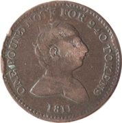 1 Penny (Staffordshire - Rushbury & Woolley) – obverse