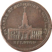 1 Penny (Staffordshire - Rushbury & Woolley) – reverse