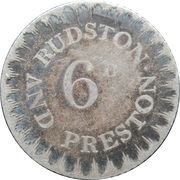 6 Pence (Yorkshire - Hull / Rudston & Preston) – reverse