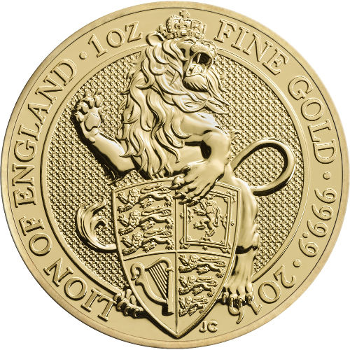 100 Pounds Elizabeth Ii 1 Oz Fine Gold Lion Of England