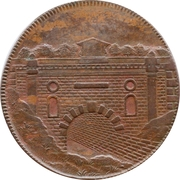 ½ Penny (Gloucestershire - Brimscombe Port) – reverse