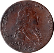 ½ Penny (Middlesex - National Series / Duke of York) – obverse