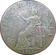 ½ Penny (Hampshire - Portsmouth / John Howard) – reverse