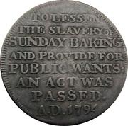 ½ Penny (Middlesex - London / Dennis') – reverse