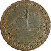 ½ Penny (Sussex - Hastings) -  obverse