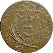 ½ Penny (Sussex - Hastings) -  reverse