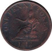 1 Penny (Yorkshire - Sheffield / Roscoe Place) – reverse