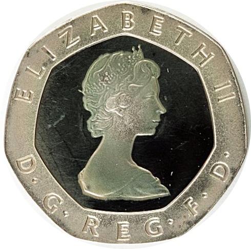 20 Pence Elizabeth Ii 2nd Portrait Silver Piedfort
