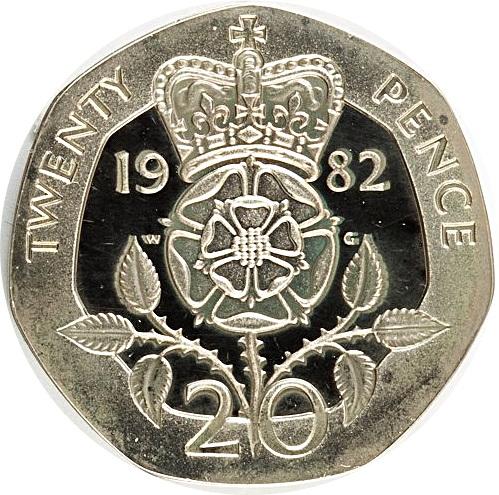 20 Pence Elizabeth Ii 2nd Portrait