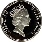 1 Pound - Elizabeth II (Welsh Leek; Silver Piedfort) -  obverse