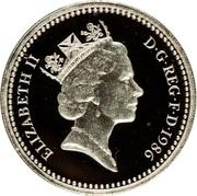 1 Pound - Elizabeth II (Northern Irish Flax; Silver Piedfort) -  obverse