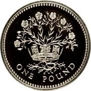 1 Pound - Elizabeth II (Northern Irish Flax; Silver Piedfort) -  reverse