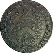 ½ Penny (Middlesex - London / Allen's) – reverse