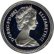 1 Pound - Elizabeth II (Royal Arms; Silver Piedfort) -  obverse