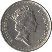 5 Pence - Elizabeth II (3rd portrait; small type) -  obverse