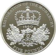5 Pounds - Elizabeth II (Restoration of the Monarchy; Silver Proof) -  reverse