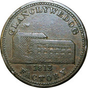 1 Penny (Montgomeryshire - Glanclywedog Factory) – obverse