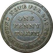 1 Penny (Montgomeryshire - Glanclywedog Factory) – reverse