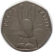 50 Pence - Elizabeth II (5th portrait; Peter Rabbit) -  reverse