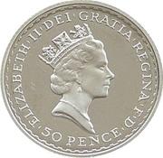 50 Pence - Elizabeth II (3rd portrait; 1/4 oz Fine Silver) – obverse