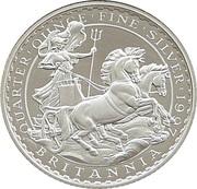 50 Pence - Elizabeth II (3rd portrait; 1/4 oz Fine Silver) – reverse