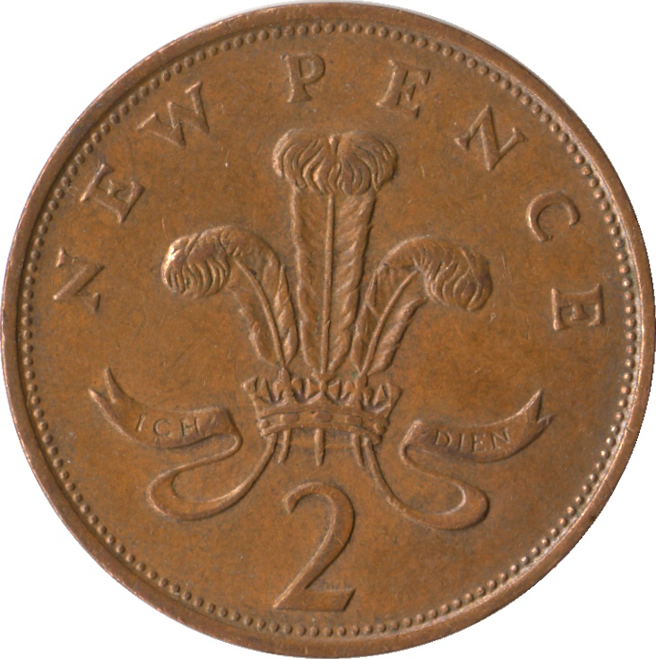 Two Pence 1975, Coin from United Kingdom - Online Coin Club