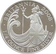 50 Pence - Elizabeth II (4th portrait; 1/4 oz Fine Silver) – reverse