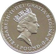 1 Pound - Elizabeth II (3rd portrait; 1/2 oz Fine Silver) – obverse