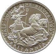 1 Pound - Elizabeth II (3rd portrait; 1/2 oz Fine Silver) – reverse
