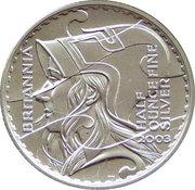 1 Pound - Elizabeth II (4th portrait; 1/2 oz Fine Silver) – reverse