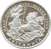 1 Pound - Elizabeth II (4th portrait; 1/2 oz Fine Silver) -  reverse