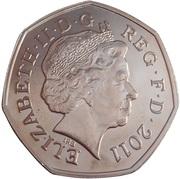 50 Pence - Elizabeth II (Modern Pentathlon; Silver) -  obverse