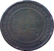 1 Penny (Yorkshire - Barnsley / Jackson and Listers Warehouse) – reverse